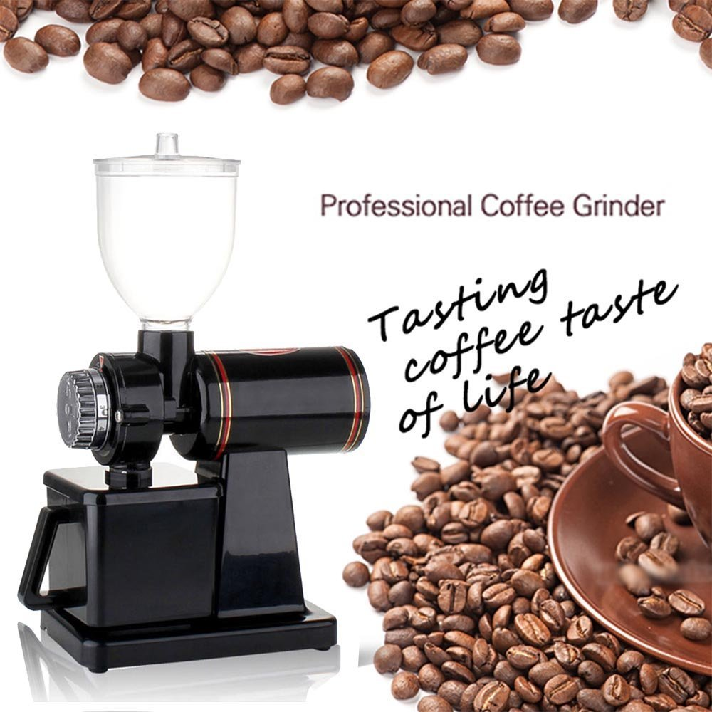 YaeTek Automatic 110V Electric Burr Coffee Grinder Mill Grinder Coffee Bean Powder Grinding Machine (Black)