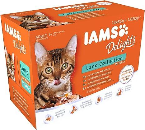 IAMS Delights Gato Adulto Colección Tierra en Gelatina [1,02 kg ...