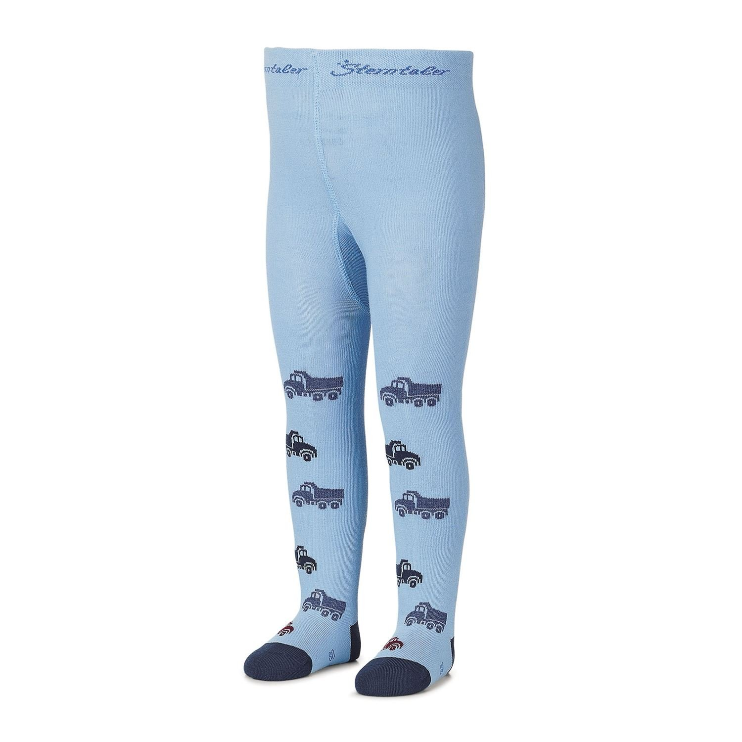 Sterntaler - Boys tights with tractor by Sterntaler, light blue - 8701701