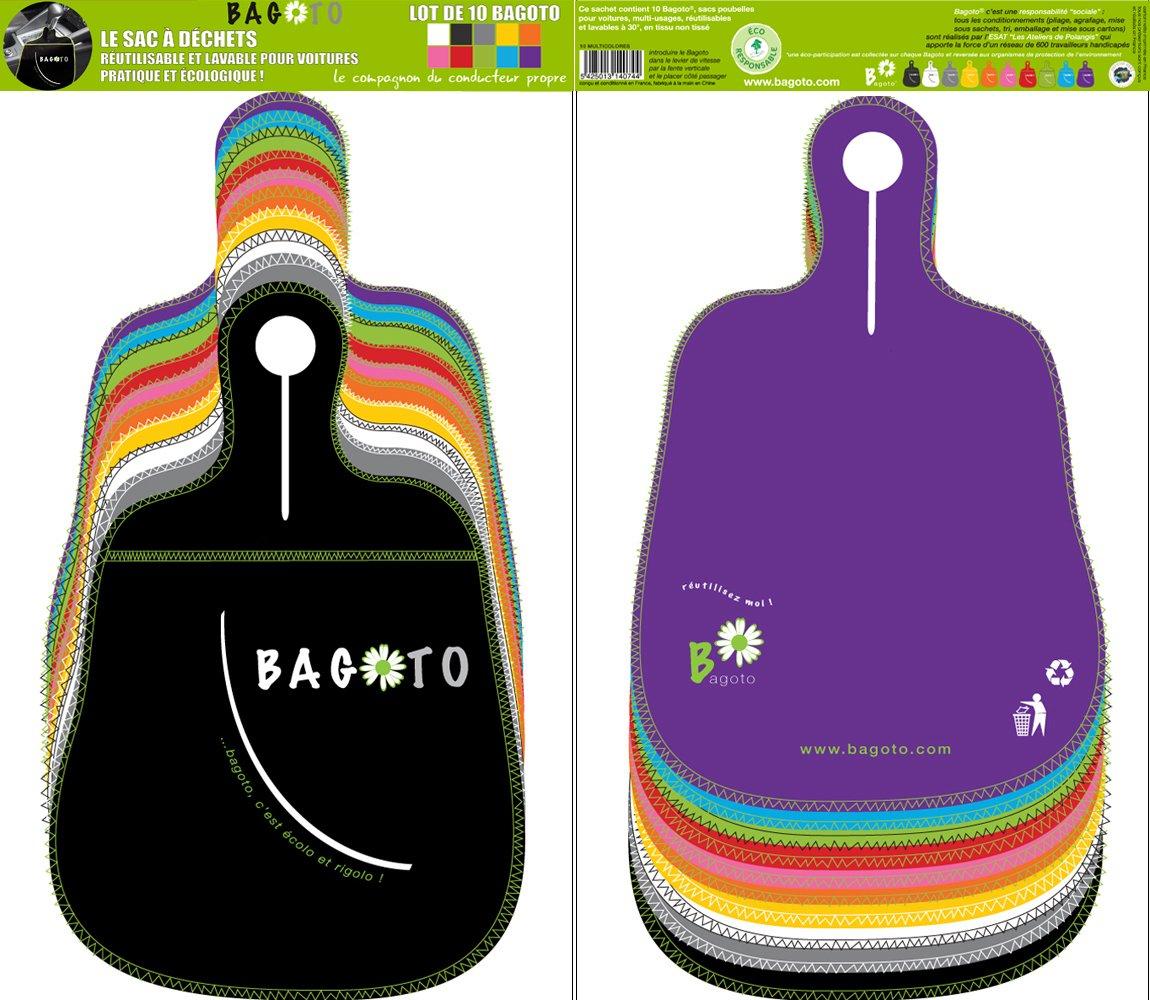 Bagoto® , le 1er sac poubelle ré utilisable, lavable et design pour voitures - Pack 10 en couleurs le 1er sac poubelle réutilisable Bagoto SAS PACK BAGOTO 10 MC