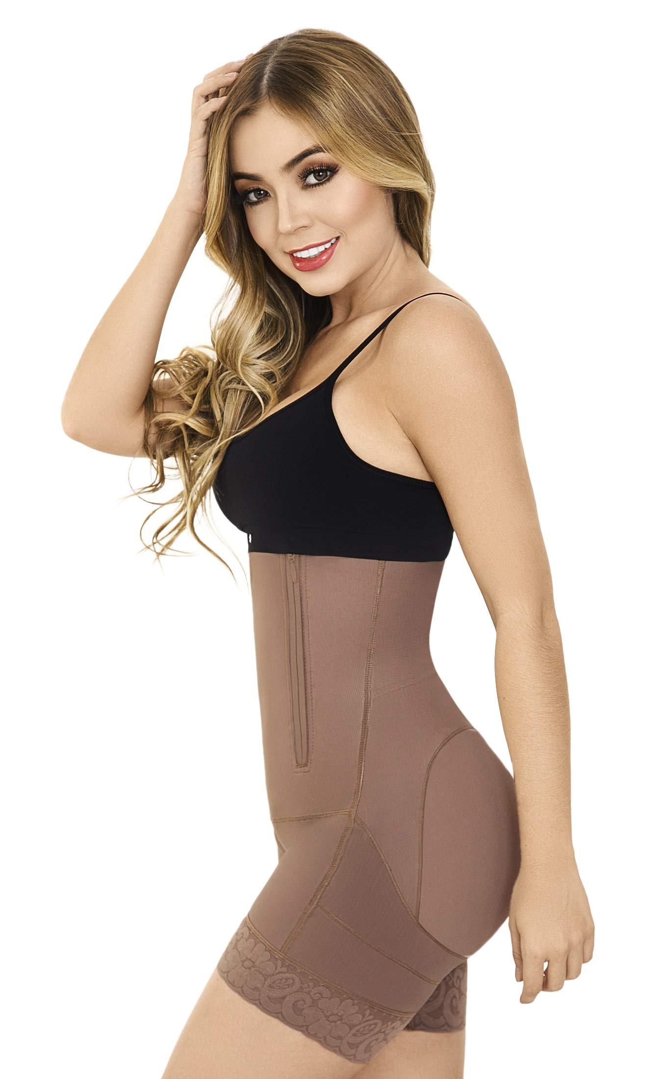 236830f3d4a9b Fajas Moldeadora Colombianas Bodysuit Levanta Cola Buttock Lift Body Shaper  Powernet Postpartum Girdle Shapewear Cocoa M