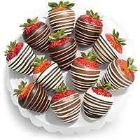 Chocolate Covered Strawberries, 12 Dark/Milk/White Delight