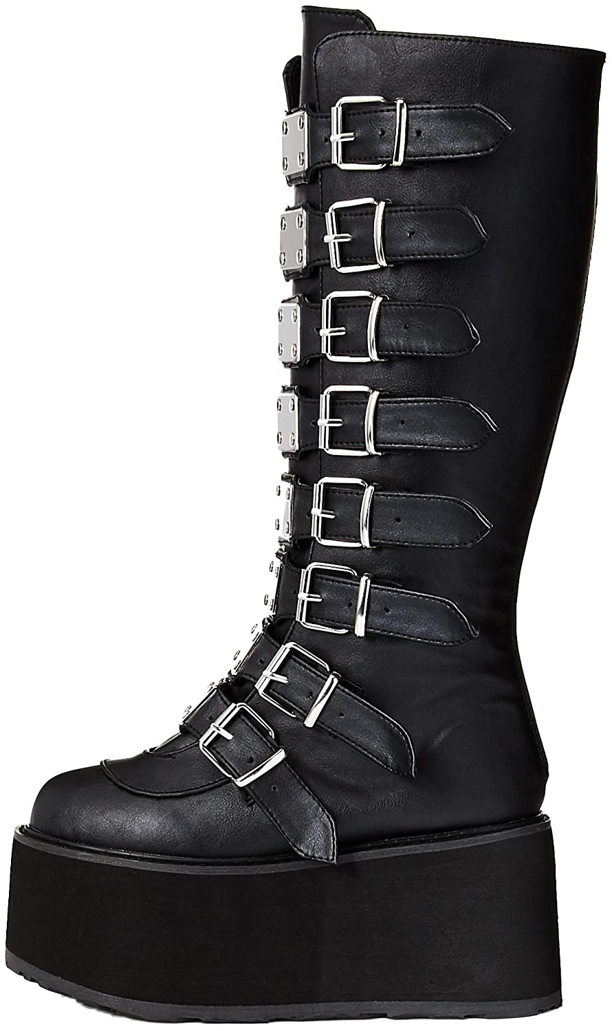 Demonia Women's Damned-318 Knee High Boot B00JR3AIGW Leather 7 B(M) US|Black Vegan Leather B00JR3AIGW 6095e7