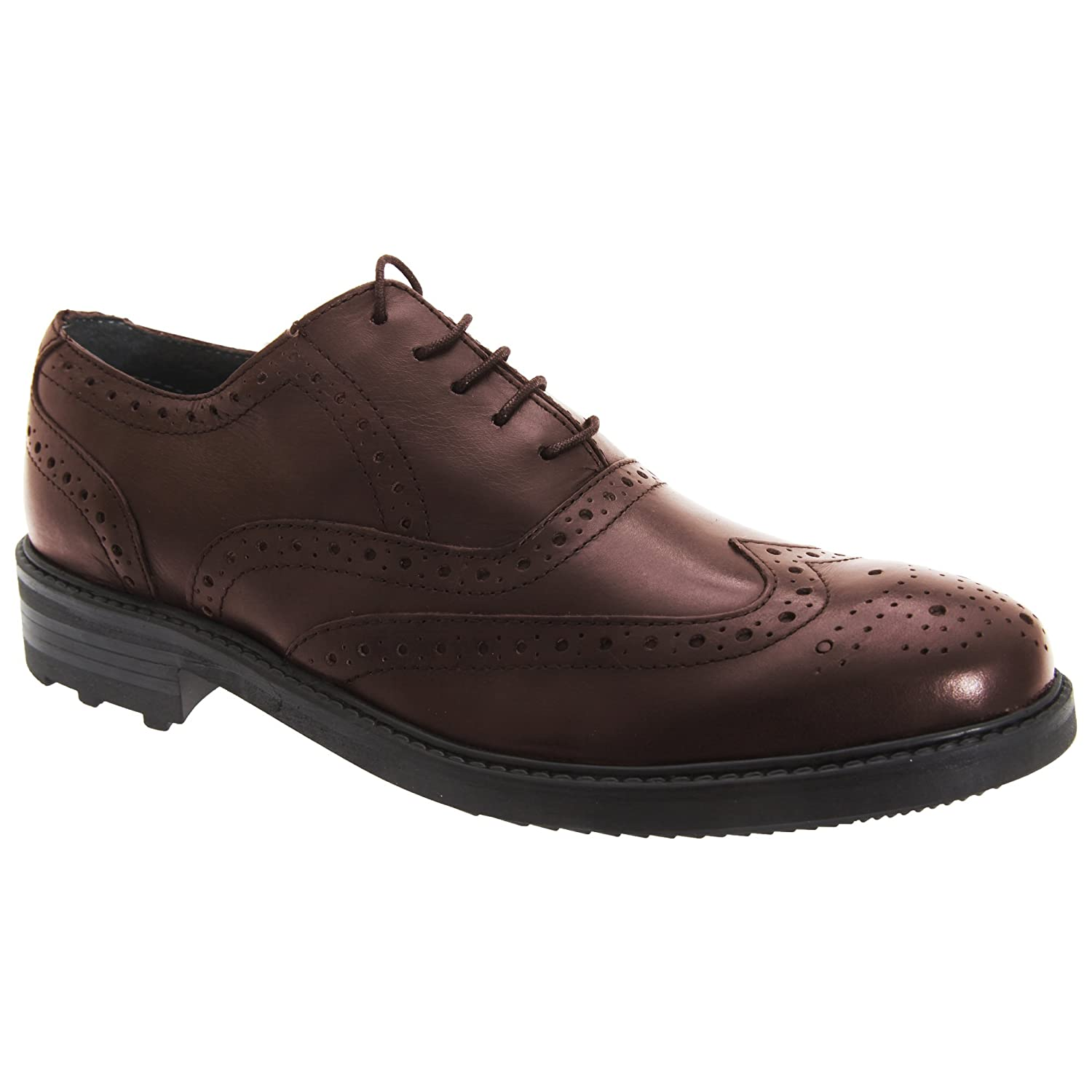 Roamer Mens 5 Eyelet Brogue Oxford Leather Shoes: Amazon.co.uk: Shoes & Bags
