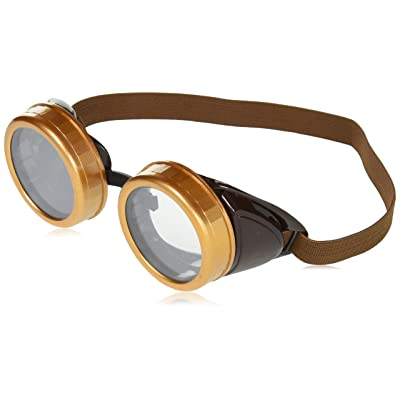 Forum Novelties Steampunk Costume Goggles, Brown, One Size: Clothing