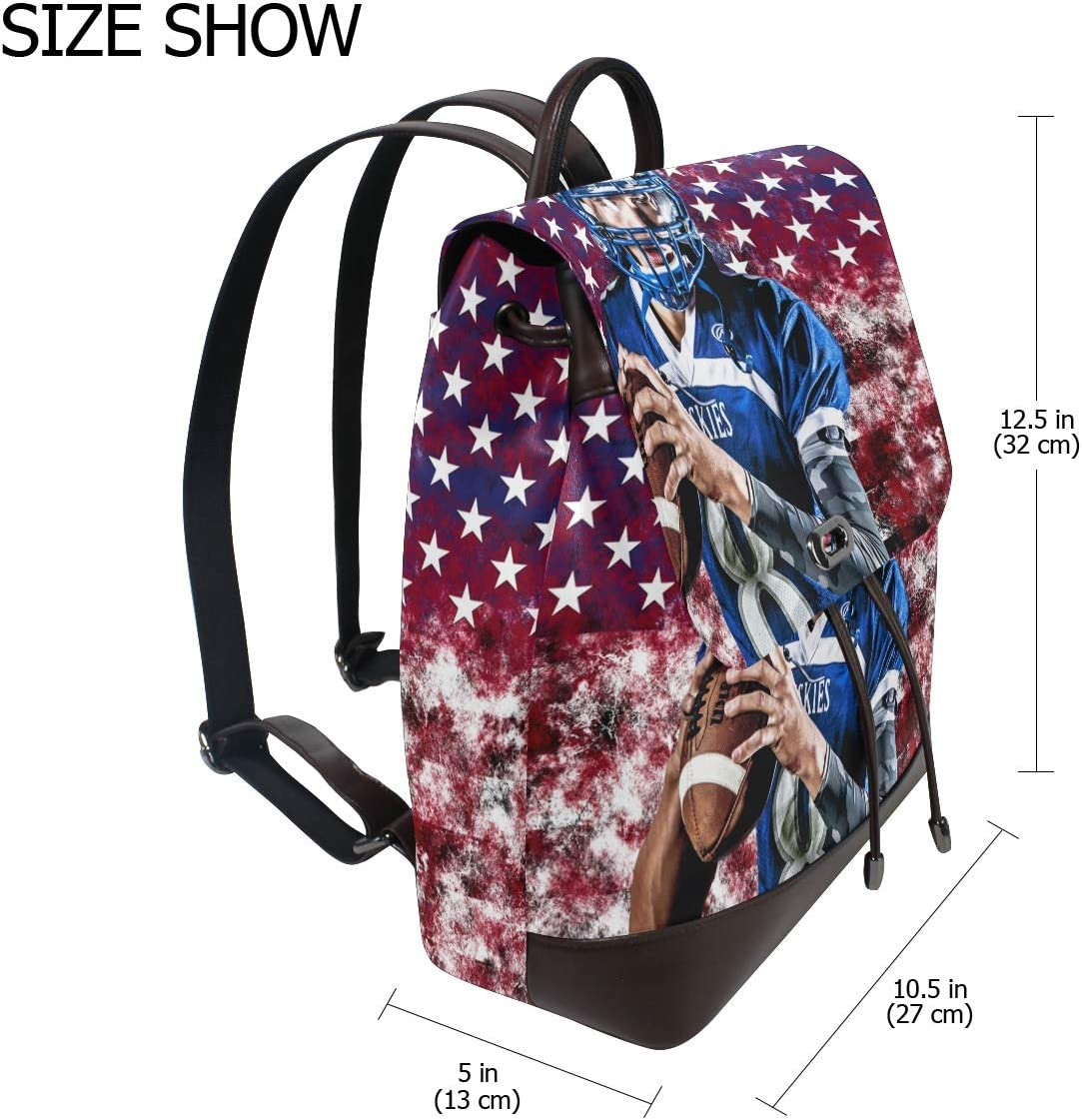 School Bag Storage Bag For Men Women Girls Boys Personalized Pattern Rugby Game Shopping Bag Backpack Travel Bag