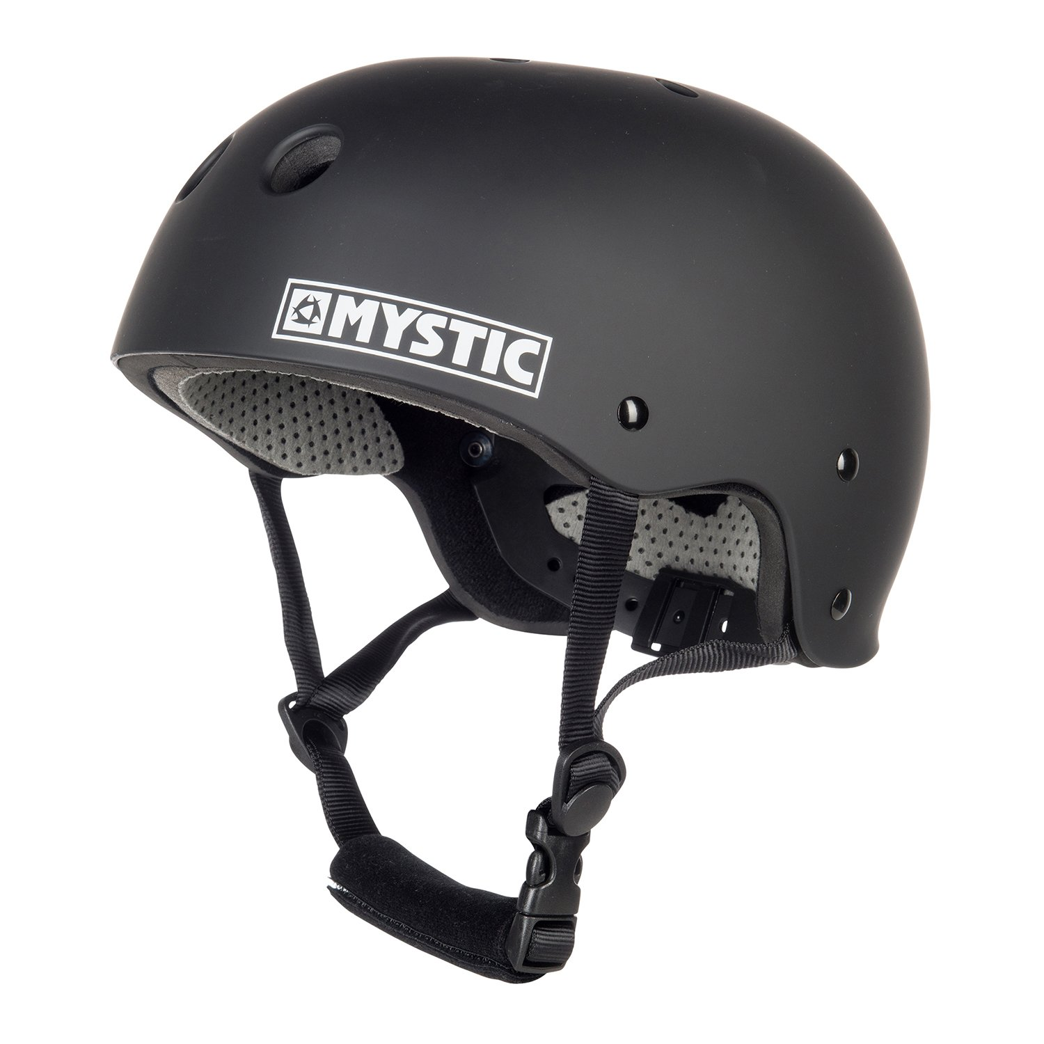 Mystic Watersports - Surf Kitesurf & Windsurfing Mk8 Helmet Black - Unisex - Lightweight - High Impact Thermo Plastic