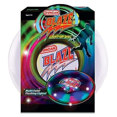 Duncan Blaze Light-Up Disc Embedded LED's 135 Gram Frisbee: Toys & Games