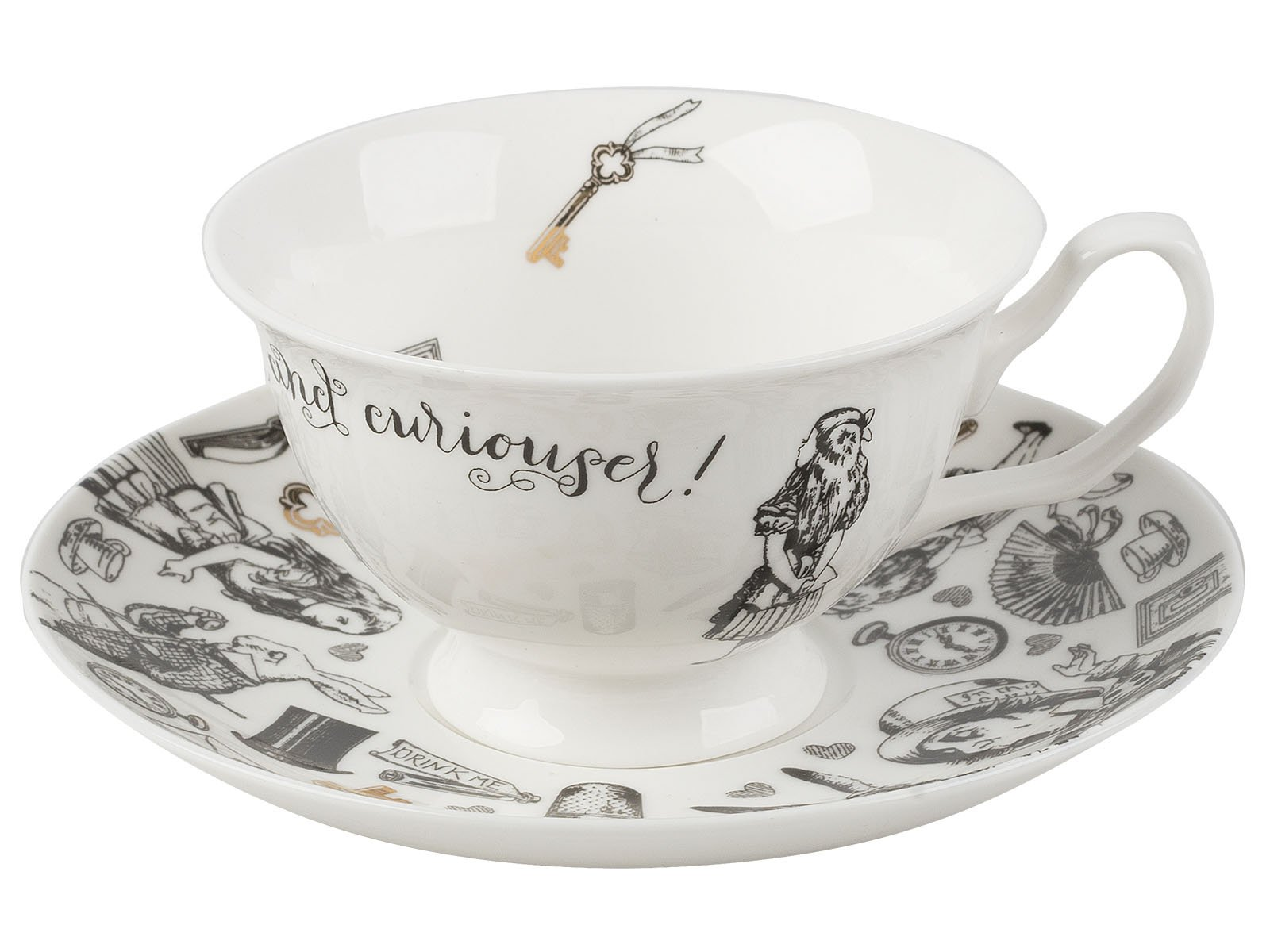 V&A Alice in Wonderland Cup and Saucer, 210 ml (7 fl oz)