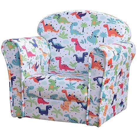 HOMCOM sintética niños Juegos sillón reclinable sofá Silla ...