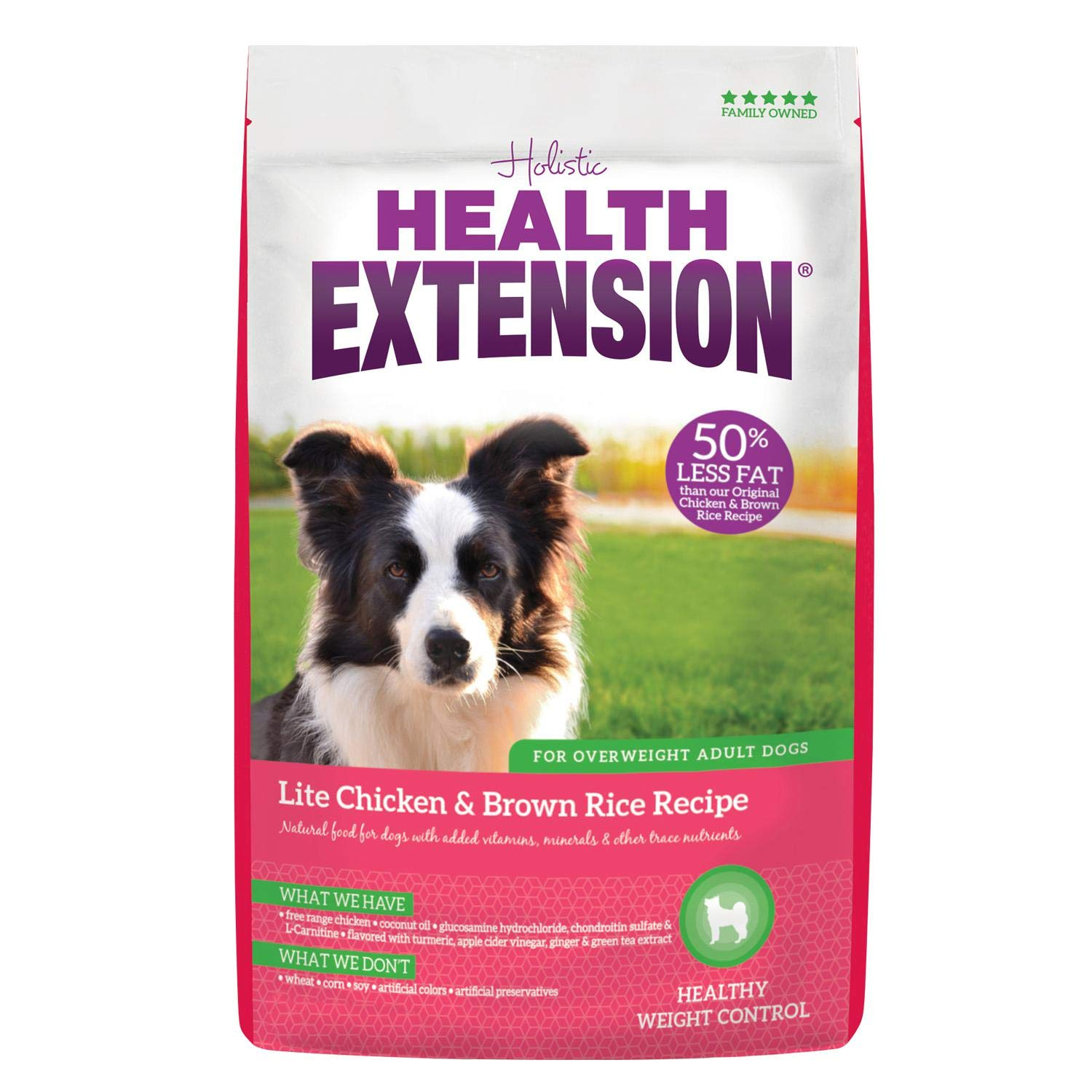 Health Extension Lite HEALTHY WEIGHT Dry Dog Food - Chicken and Brown Rice Recipe by Health Extension