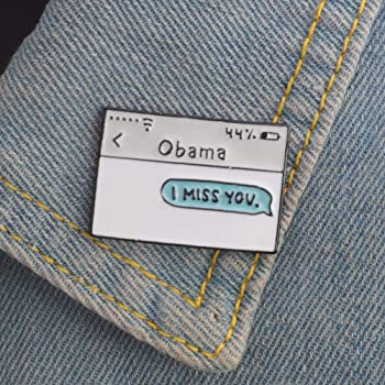 Amazon com: Novelty Obama Enamel Lapel Pin Backpack Hat Jacket