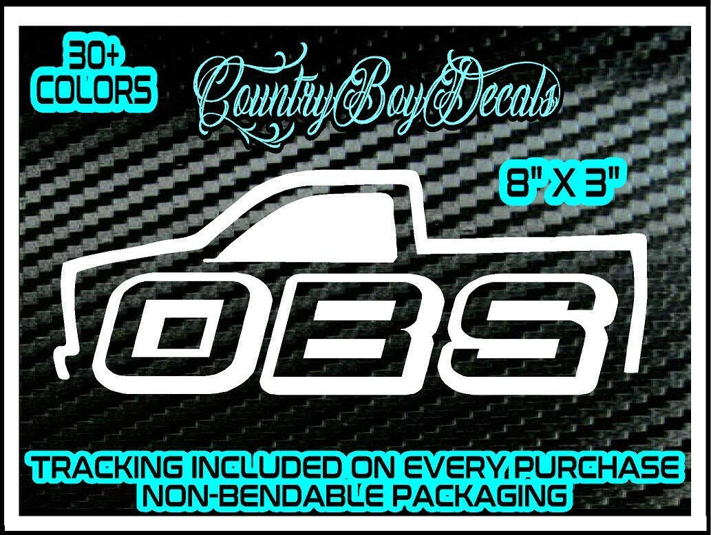OBS Vinyl DECAL Sticker TRUCK Diesel 150 Lifted Old Body Style Lowered Block Mud