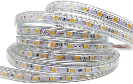 Tira LED 3 Metro con Interruptor, Blanco cálido Tiras de Led Alta ...