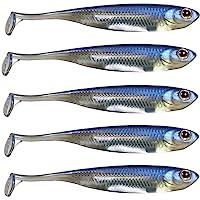 QualyQualy Señuelos de Vinilo para Pesca - Senuelo Minnow - Blandos senuelos de Pesca - Cebos Artificiales de Pesca