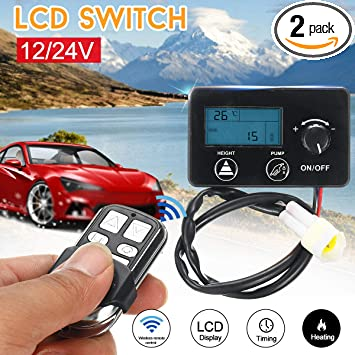 Car Remote Control Diesel Air Heater Controller Kit 12V//24V LCD Monitor Switch