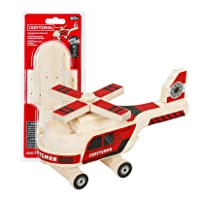 Craftsman Woodworking Helicopter Project Kit for Kids, Educational Toy Realistic Carpentry Helicopter Construction, Take-along Gift for Boys & Girls, Age 5+