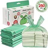 Easy-Tie Baby Disposable Diaper Sacks/Diaper Bags with Baby Powder Scent, 250 Count