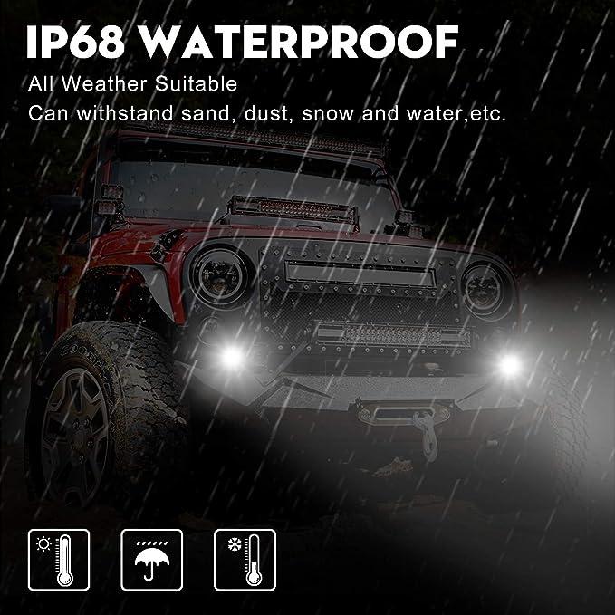 2 a/ños de Garant/ía YEEGO Foco Led Tractor Focos LED Coche 96W 9600LM Foco LED 12v 2PCS Spot Flood Combo Luz /ámbar Off Road Driving Faros Antiniebla