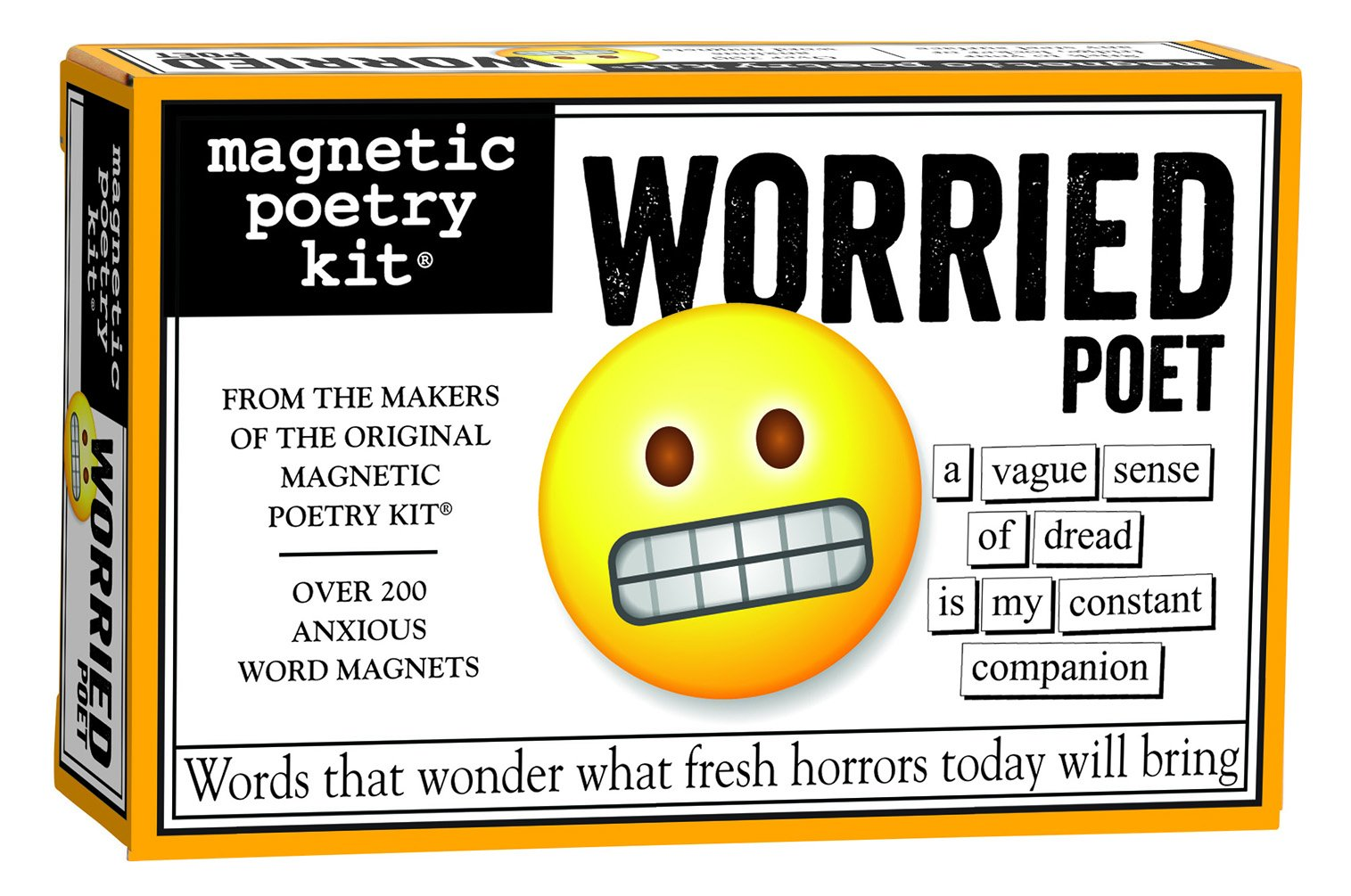 Magnetic Poetry - Worried Poet - Words for Refrigerator - Write Poems and Letters on The Fridge - Made in The USA