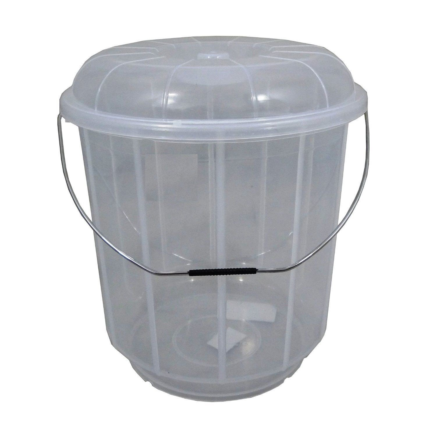 20L Litre Plastic Bucket With Lid Carry Handle Ideal for Pet Food / Animal Feed / Wild Bird Seed / Grain / Corn / Storage S&MC Gardenware