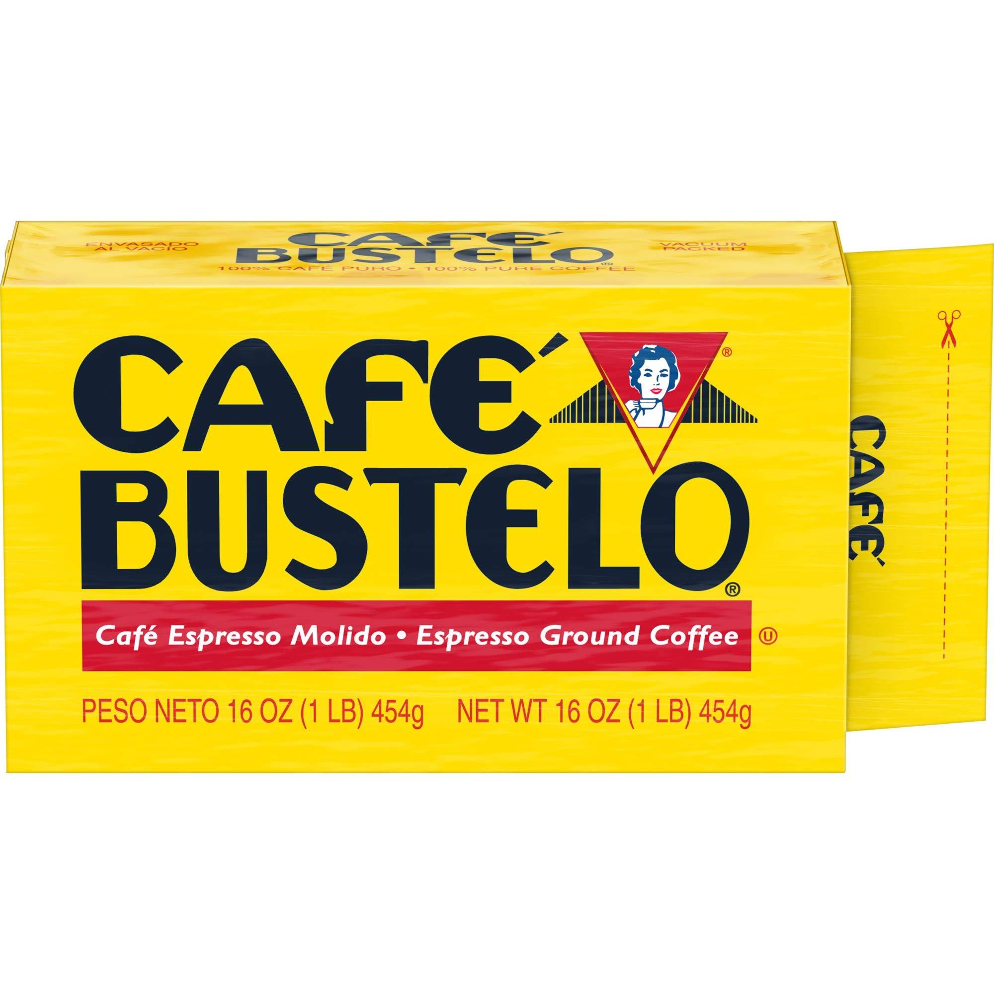 Supreme by Bustelo Espresso Style Dark Roast Ground Coffee Brick, 16 Ounces