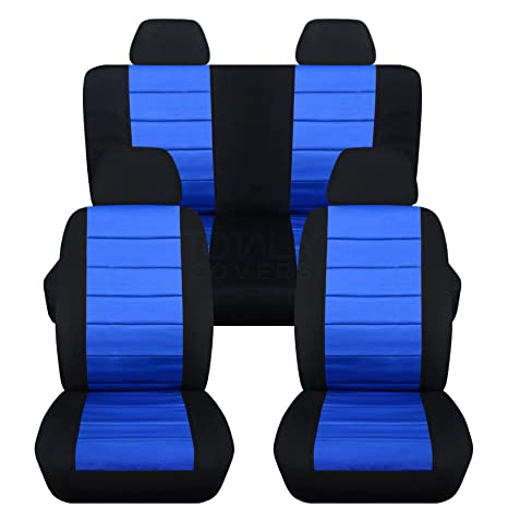 blue Car seat covers fit Volkswagen New Beetle full set black