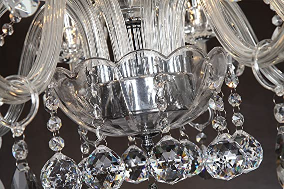 Plafoniere Da Sala : Dst marie therese bracci clear geniune crystal droplet lampada