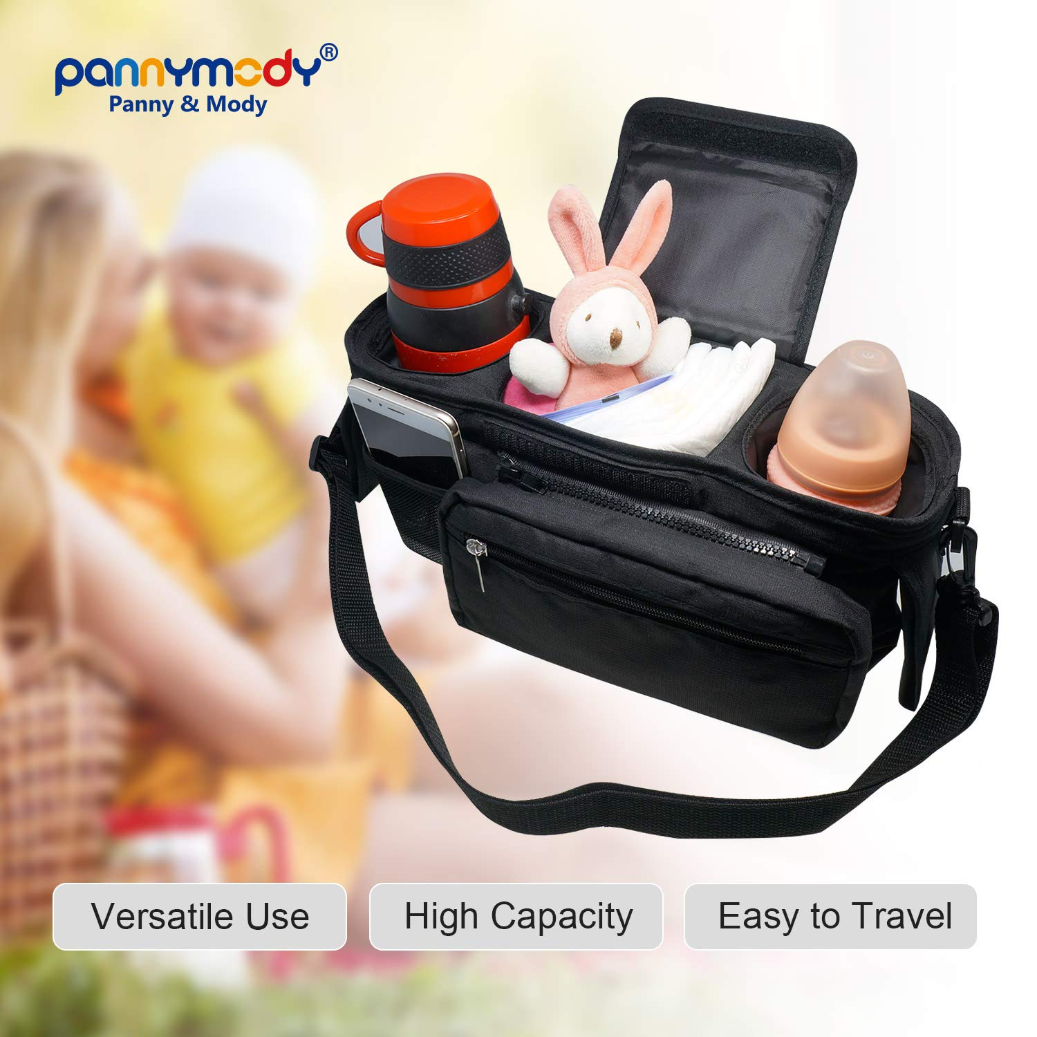 Universal Baby Stroller Organizer Bag,with Shoulder strapWaterproof Material Stroller Organizer Cartoon