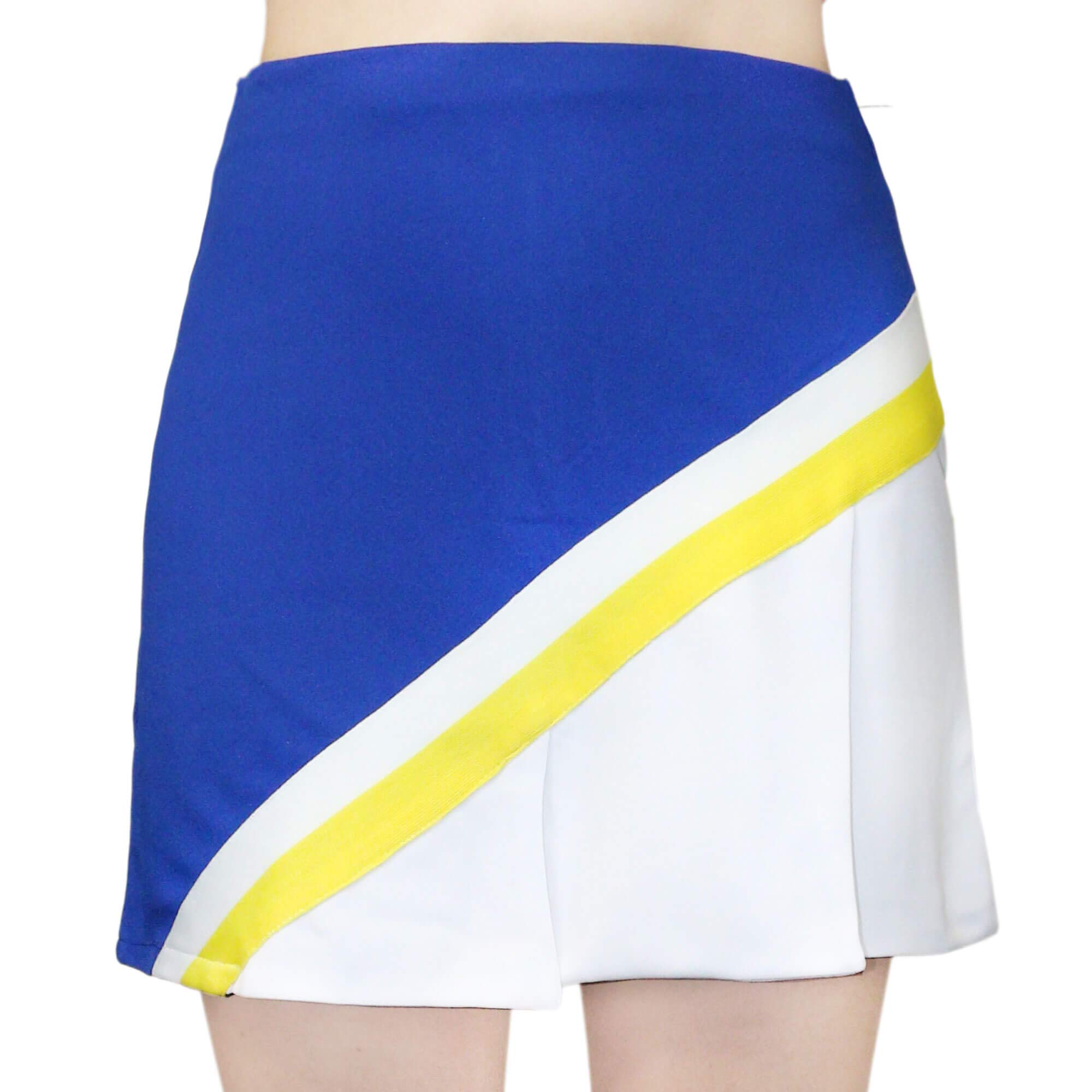 Danzcue Adult Cheerleading A-Line Pleat Skirt, Royal-White, Small by Danzcue