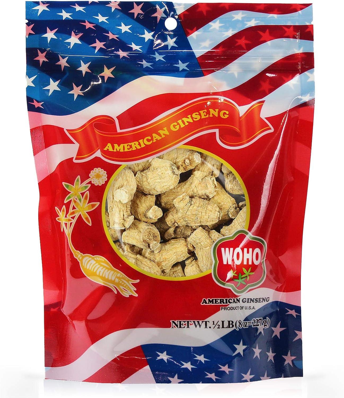 WOHO American Ginseng 111.8 Short Large Roots 8oz Bag