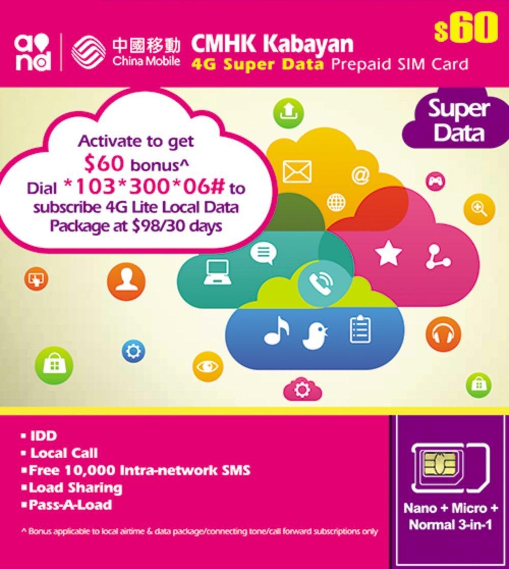 Amazon.com: Hong Kong tarjeta SIM de prepago 30days datos + ...