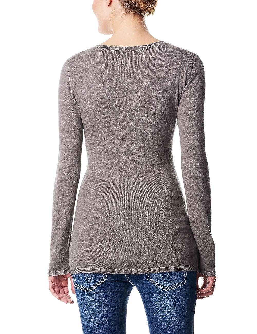 ESPRIT Maternity Damen Regular Fit Umstands Pullover U84513 Einfarbig