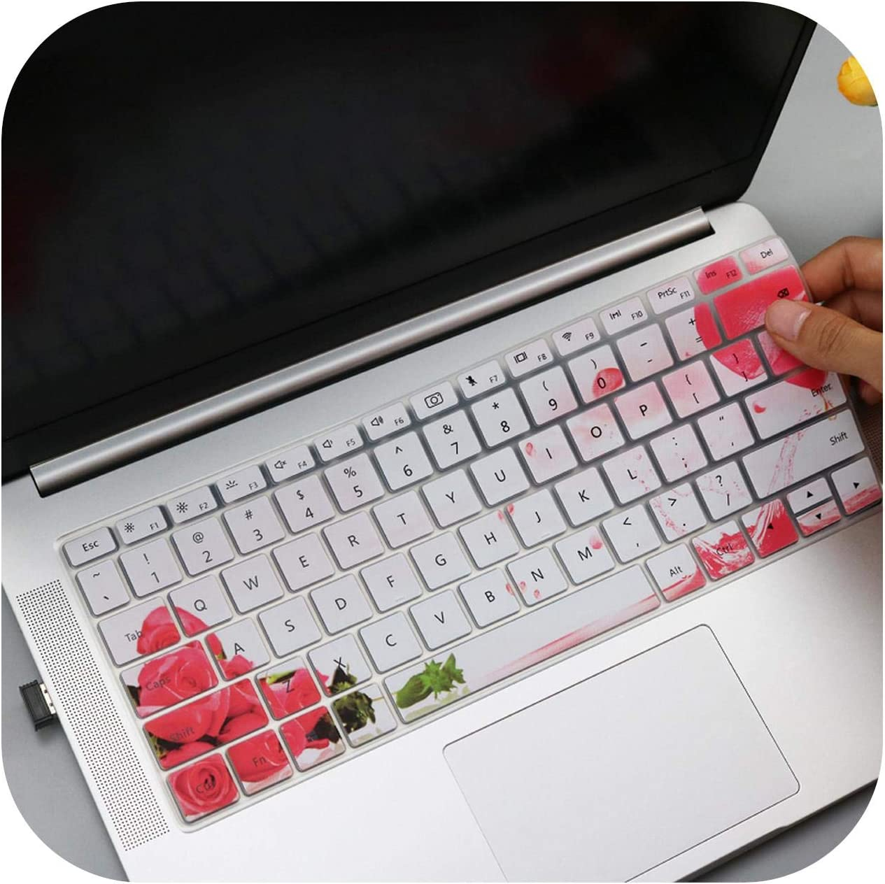 Film Pour Clavier for Huawei Matebook X Pro Mach W19C 13.9 Laptop 2018 2019 Keyboard Cover Protector Skin for Huawei Matebook X Pro Laptop-Flower
