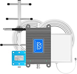 AT&T Signal Booster Kit for Cell Phone 4G LTE 700MHZ Band 13/12/17 T-Mobile US Cellular Straight Talk Verizon Cell Phone Signal Booster for Home 4G Antenna Booster AT&T