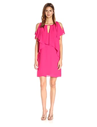 af6e26c603 Laundry by Shelli Segal Women s Drapey Sleeve Shift Dress at Amazon ...