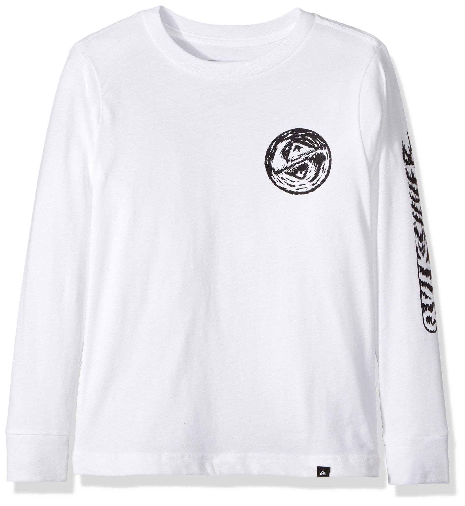 Quiksilver Little Boys' Bad Vision Long Sleeve Tee, White, 6
