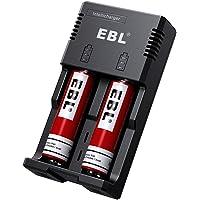 EBL 992 Chargeur de Piles Li-ION 18650 26650 22650 AA/AAA/C Ni-MH Ni-CD Pile avec 2 Piles Rechargeables 18650 3,7V 3000mAh