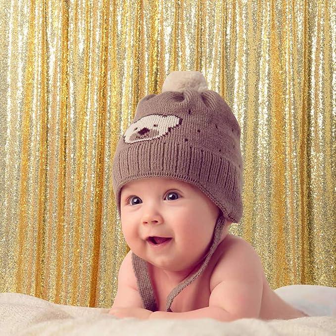 B Cool Gold Sequin Fabric Christmas Photography Kamera