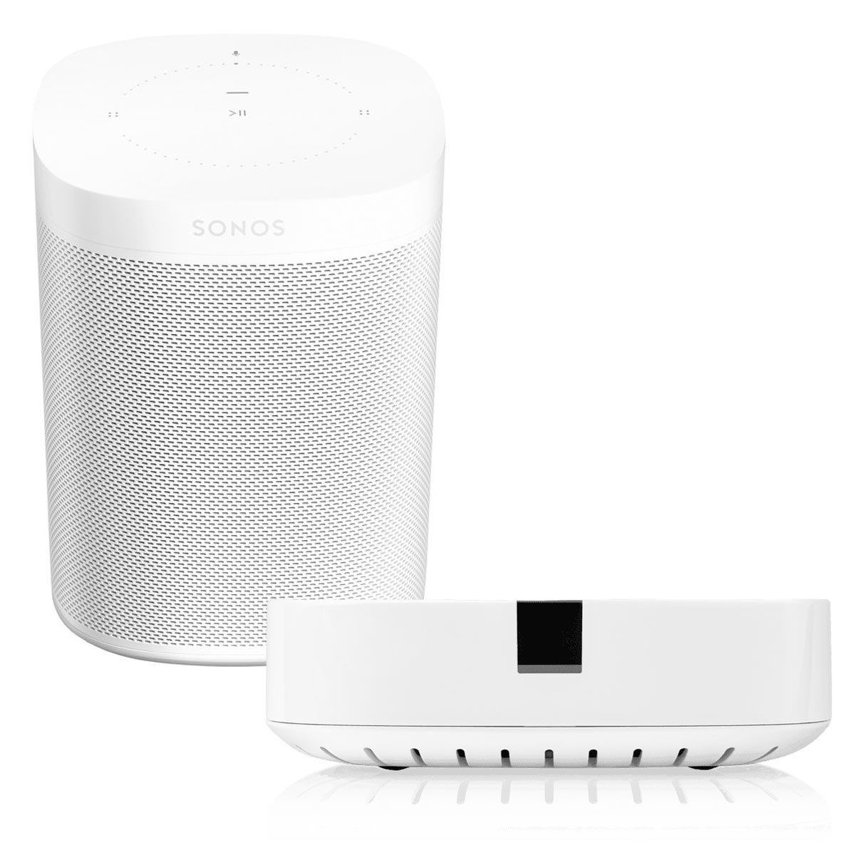 Sonos ONE Voice-Controlled Wireless Smart Speaker (White) with BOOST Adapter