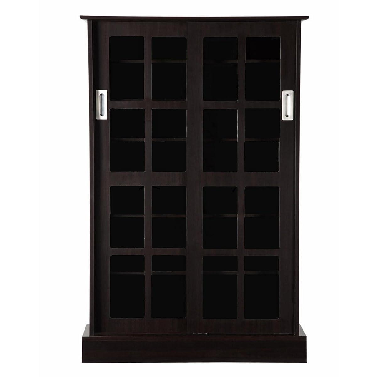 Atlantic 94835721 Glass Door Cab Espresso