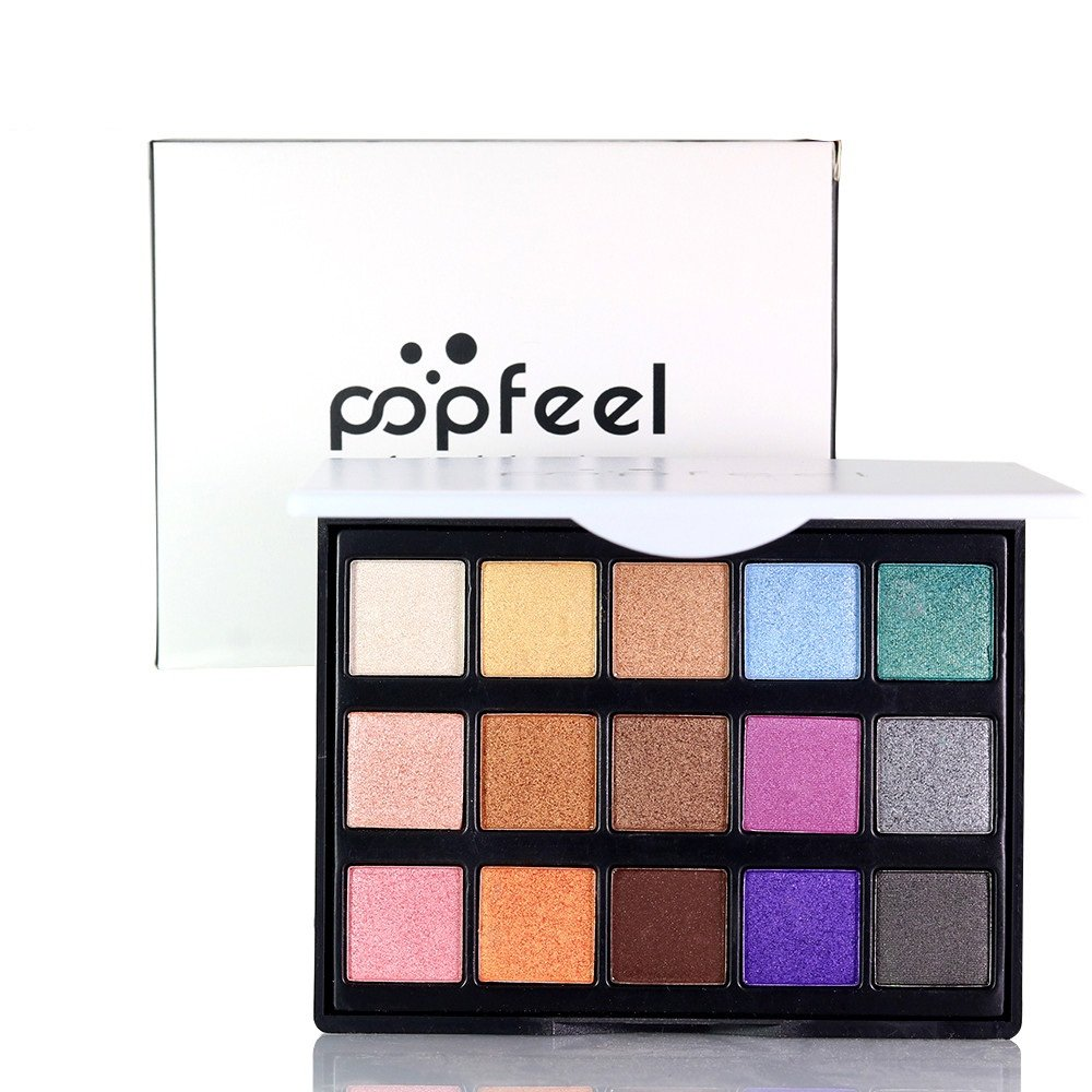 Eyeshadow 15 Color Eye Shadow Palette Matte Eyeshadow Cottect Blush Lipstick High light Face Shadow Function Cosmetic Powder Palette (FEWST-B)
