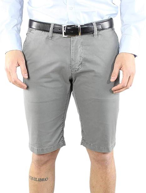 Bermuda hombre algodón azul gris blanco pantalones cortos Slim Fit bolsillo América Shorts Casual: Amazon.es: Ropa y accesorios