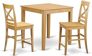 East West Furniture Kitchen Set, Oak