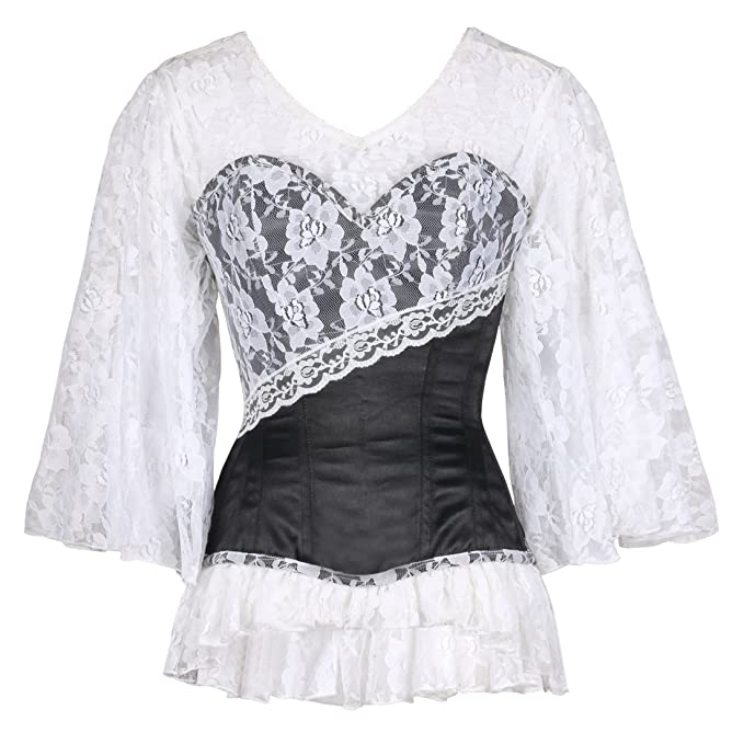Steampunk Corsets and Belts Laced Double Cloud Black Corset Plus Sizes Available $147.00 AT vintagedancer.com