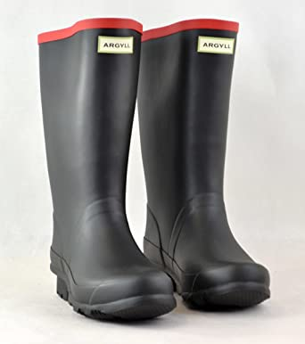 Hunter Argyll Short Wellington Boot, Black (Size 15)