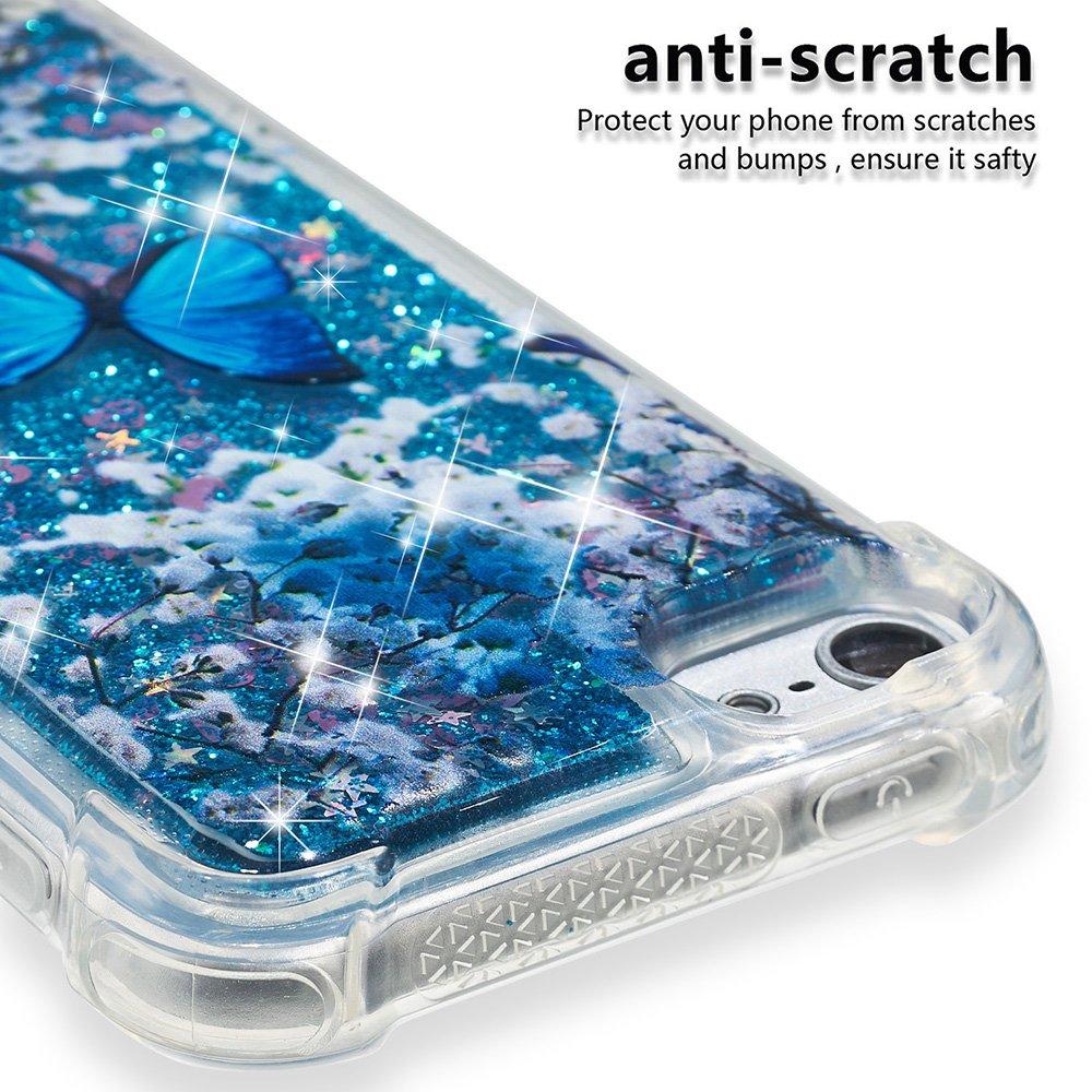 7e38d40b46 Amazon | iPod Touch 5/6 ケース 透明 TPU、キラキラ輝き[流砂]ケース、可愛い、ファッションと贅沢、薄くて軽い、衝撃吸収、[360°全面保護]  カバー ケース 為に Apple ...