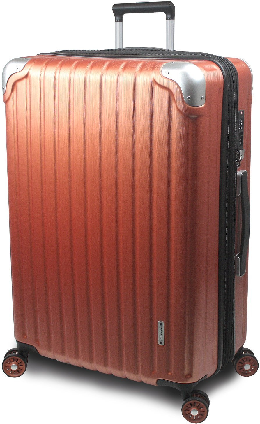 【SUCCESS サクセス】 スーツケース 3サイズ 【 大型 76cm/ジャスト型 70cm/中型 65cm 】 超軽量 TSAロック搭載 【 プロデンス コーナーパットモデル】 B01ELOM2PG 中型 Mサイズ 65cm|パーシモンヘアライン パーシモンヘアライン 中型 Mサイズ 65cm