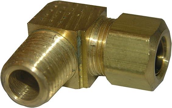 "3//8/"" compression 90 brass"
