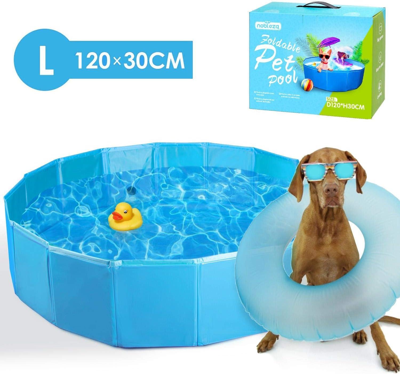 Nobleza Piscina para Perros 120 cm Bañera Plegable para Niños Mascotas Piscina Resistente y Estable PVC Antideslizante Adecuado para Interior Exterior al Aire Libre Azul: Amazon.es: Productos para mascotas